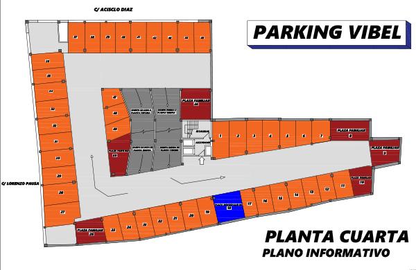Plano de Parking Vibelsa cuarta planta