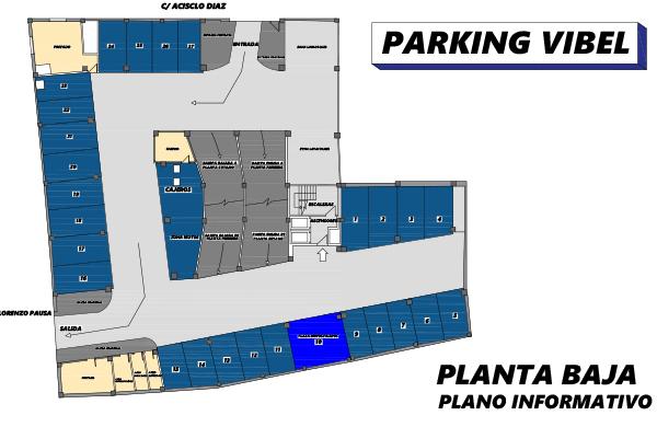 Plano de Parking Vibelsa planta baja