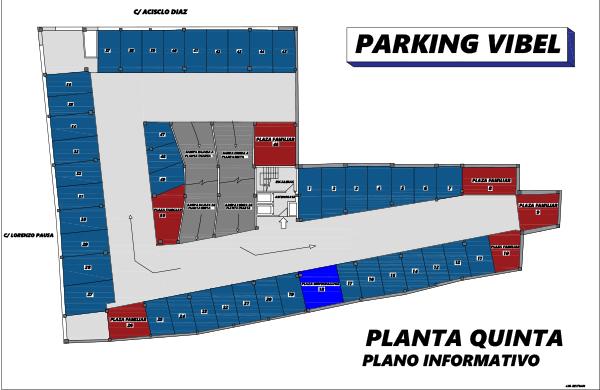 Plano de Parking Vibelsa quinta planta