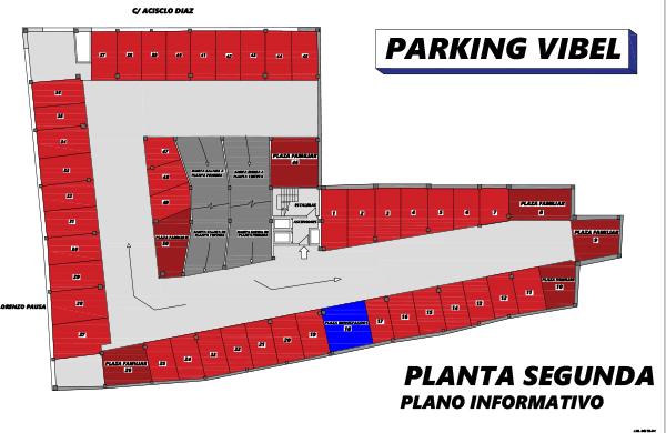 Plano de Parking Vibelsa segunda planta