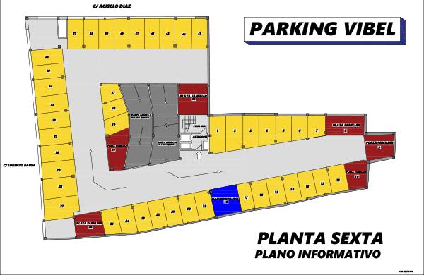 Plano de Parking Vibelsa sexta planta