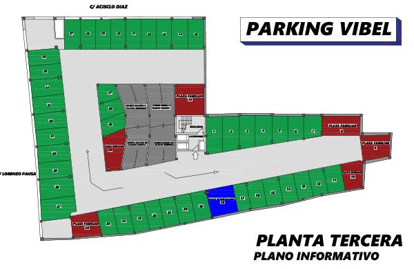 Plano de Parking Vibelsa tercera planta